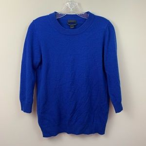 J. Crew Collection Cashmere Royal Blue Sweater